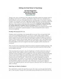 Sample Resume Graduate School Application Psychology New Research