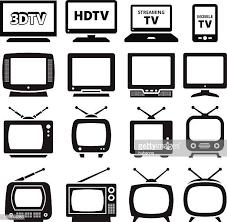 60点のテレビ放送のイラスト素材クリップアート素材マンガ素材
