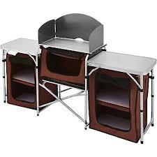 Pliable Camping Cuisine Unité Avec Pare Brise En Aluminium étanche