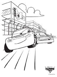 These are animated films from pixar (disney) featuring anthropomorphic cars, ie with human characteristics. Disney Cars Race Coloring Page Crayola Com