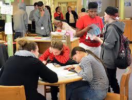 schenectady high after school program the daily gazette students in the schenectady high school library during an after school program tuesday 21 2017