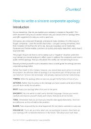 Letter Of Personal Apology Custom 44 Tips For Writing A Corporate Apology Letter