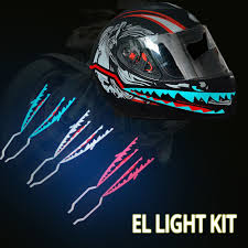 Motorcycle Helmet Light Kit Us 9 14 47 Off 2019 New Motorcycle Helmet El Cold Light Helmet Light Strip Night Signal Luminous Modified Strip Helmet Sticker Casco Moto In