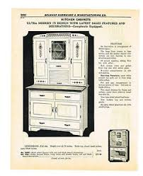 Ultra Modern Hoosier Type Kitchen Cabinet Vintage Catalog Ad