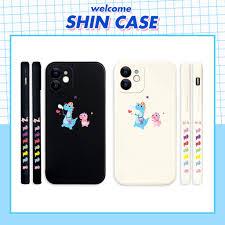 Ốp lưng iphone Umasou cute cạnh vuông in hình viền  5/5s/6/6plus/6s/6splus/7/7plus/8/8plus/x/xs/11/12/pro/max/plus/promax chính  hãng