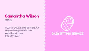 Placeit Business Card Maker For Nanny Services With Baby Icons
