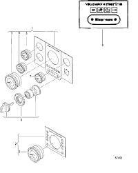 Mercruiser vw 2 5l instrument panel l s