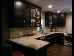 espresso kitchen cabinets with backsplash