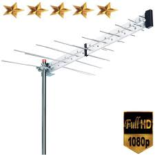 boostwaves yagi roof top tv antenna optimized hdtv digital outdoor directional aerial vhf uhf fm