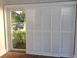 sliding glass door plantation shutters exotic diy for doors small