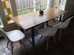 Metal And Wood Kitchen Table Handmade Dining Room Tables Hunting Handmade