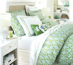 shay organic duvet cover sham blue green pottery barn with regard to blue and green bedding