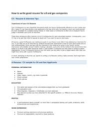 Oil And Gas Resume Examples Oilfield Objective Sample Ideas 213663