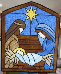 Best 25+ Stained glass quilt ideas on Pinterest   Quilts, Batik ... & stained glass nativity quilt 2012 Adamdwight.com