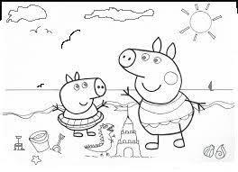 Peppa Pig Al Mare Disegno Da Stampare E Da Colorare Gratis Disegni