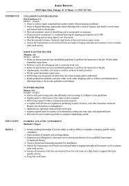Resume Helper Free Painter Helper Resume Samples Velvet Jobs