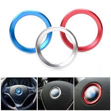 BMW 3 Series 2013 bmw x5 accessories : Car Styling Steering Wheel Center Decorative Ring For BMW 1 3 4 5 ...