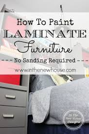painting laminate furnitureHow To Paint Laminate Furniture  In The New House Designs