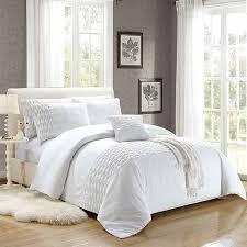 wrinkled embroidered white duvet covers set border white15