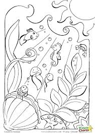 Deep Sea Creatures Coloring Pages Online Anime Lost Ocean Book Fish