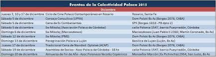 Calendario 2015 Argentina Calendario 2015 Diciembre Eventos De La Colectividad Polaca En La