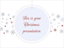 Free Christmas Powerpoint Template Or Google Slides Theme White And