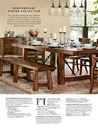 benchwright dining collection our rustic benchwright dining collection crafted with thick planks of weathered hardwood