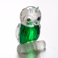 hd 2 7 8221 glass crystal reduce owl collectible figurines paperweight crafts artwork amp