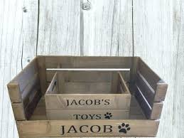 wooden dog toy box apple crate pet bed and large for