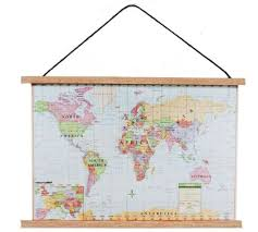 dollhouse miniature modern map banner by town square miniatures