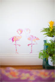 vintage diy flamingo wall stickers wall sticker animal at home and interior design ideas