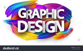 Spectrum Graphic Design Graphic Design Poster Spectrum Brush Strokes Stock Image