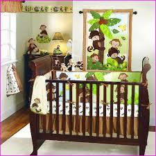 monkey crib bedding set sets for boys themed green home design ideas portray