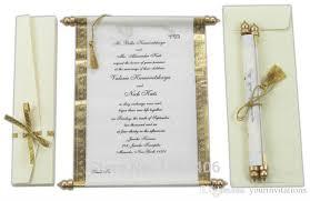 Scroll Wedding Invite 2016 Scroll Wedding Invitations Card Wholesale Party Wedding Gold