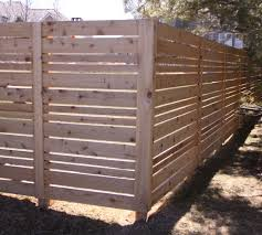white horizontal wood fence. Will White #11. American Fence - Lincoln Wood Horizontal