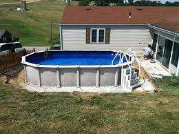 above ground pool on concrete above ground pool on concrete pad round designs concrete pad under