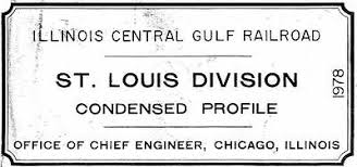 Pdf On Cd Illinois Central Gulf Alabama Division Track Chart