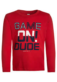 long sleeved top red