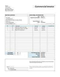 Non Commercial Invoice Sample Chakrii