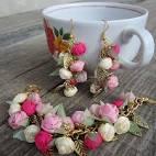 Украшение цветы из ткани