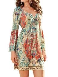 zxzy boho style women dress long sleeve