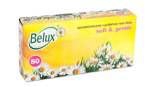 Купить <b>Салфетки косметические Belux</b>, 2-слойные, 80 листов в ...