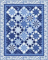 Porcelain Prism Stars Quilt Pattern PC40 intermediate wall Fascinating Quilt Patterns