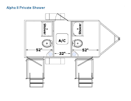 Alpha Series Mobile Shower Floor Plans
