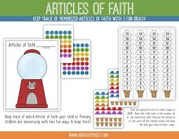 Articles Of Faith Charts Activity Days Crafts For Kids