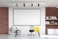 whiteboard for office wall. Home Office With Yellow Chair And Whiteboard Stock Illustration For Wall C