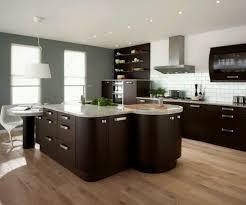 Kitchen Contemporary Kitchen Cabinet Design Ideas With Brown