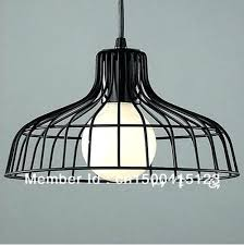 wire cage light fixtures industrial black shade pendant lamp fixture fitting hanging lighting in a bottle
