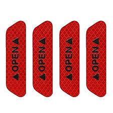 Coromose <b>4Pcs/Set Car Door</b> Stickers Safety Reflective Tape Open ...