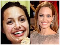 actresses without makeup angelina jolie